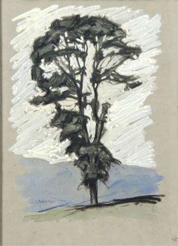 Baum vor weißem Hintergrund