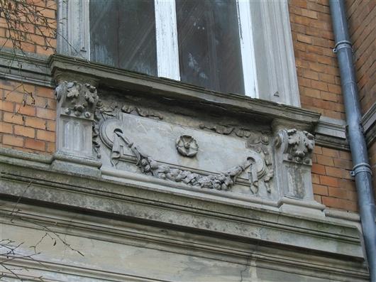 Verzierungen an der Fassade