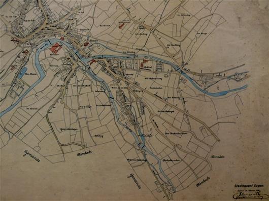 Gewässerkarte Eupen