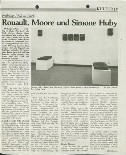 Rouault, Moore und Simone Huby