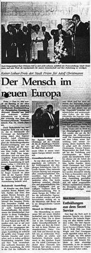 Der Mensch im neuen Europa