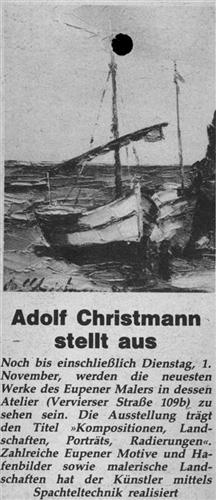 Adolf Christmann stellt aus