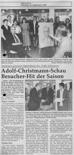 Adolf-Christmann-Schau Besucher-Hit der Saison