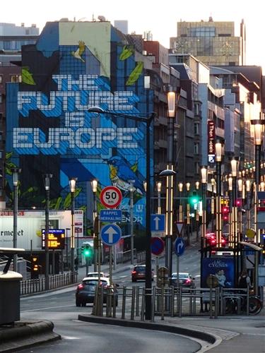 The future is Europe, rue de la Loi, Brüssel