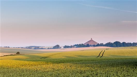 Memorial 1815 - Löwe und Schlachtfeld von Waterloo, Braine-l'Alleud