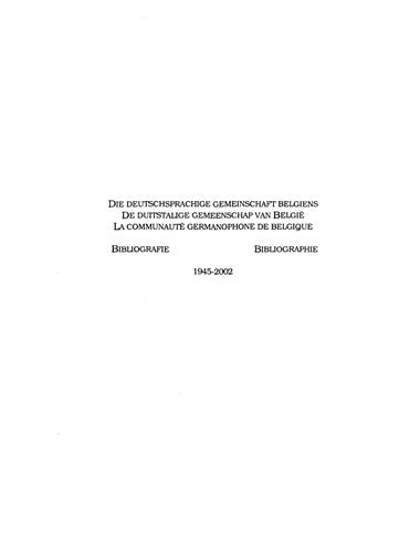 Bibliographie Werner Miessen 1945-2002 Teil 1