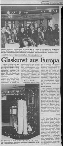 Glaskunst aus Europa