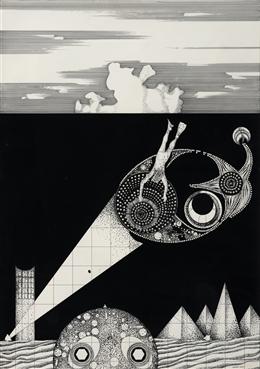 Taucher im Lichtkegel (5/73)