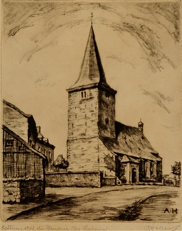 Kettenis 1948, die Pfarrkirche
