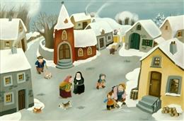 le village dans la neige