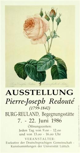 Plakat Ausstellung Pierre-Joseph Redouté, Burg-Reuland