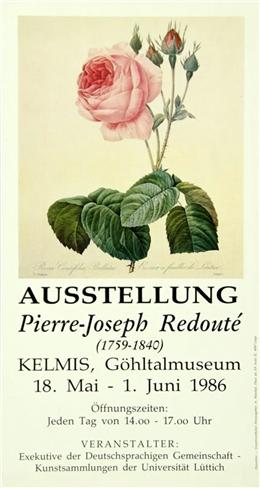 Plakat Ausstellung Pierre-Joseph Redouté, Kelmis