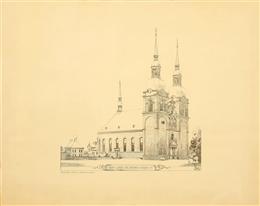Fotolithographie Pfarrkirche St. Nikolaus Eupen