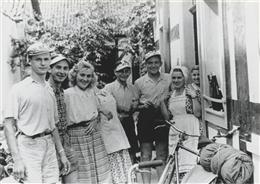 Am Rhein, 1950: Büllinger auf Radtour