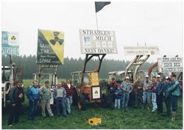 Amel, 04.09.1994: Kundgebung gegen Atommüll-Endlager