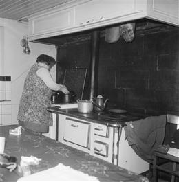 Aldringen, um 1970: Küche