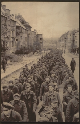 Aachen, 1944: deutsche Kriegsgefangene