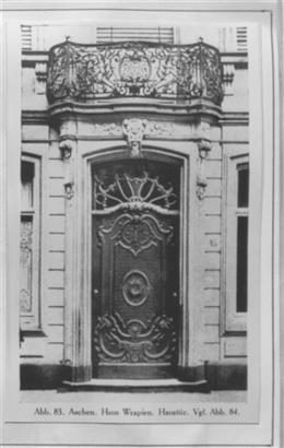 Aachen, vor 1945: Wespienhaus von Johann Joseph Couven (Ansichtskarten)