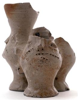Raerener Steinzeug, Drillingskrug mit Gesicht FOR01/055
