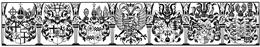 Bauchfries 098 Wappen der Kurfürsten